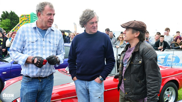 Jeremy Clarkson, James May and Richard Hammond at Jap Fest, Castle Combe Circuit.