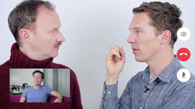 Andrew Scott, Mark Gatiss and Benedict Cumberbatch (Pic: PBS)