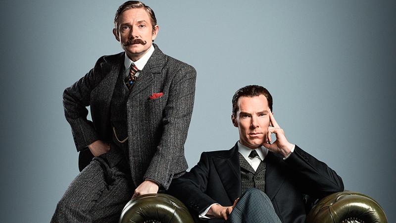 Martin Freeman and Benedict Cumberbatch in 'Sherlock' (Pic: BBC)