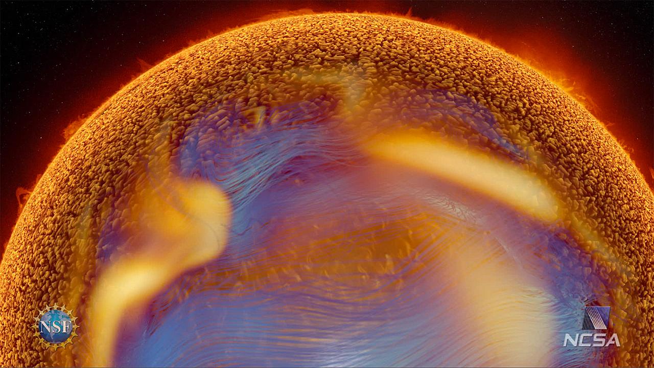 Inside the sun (Pic: NSF/NCSA)