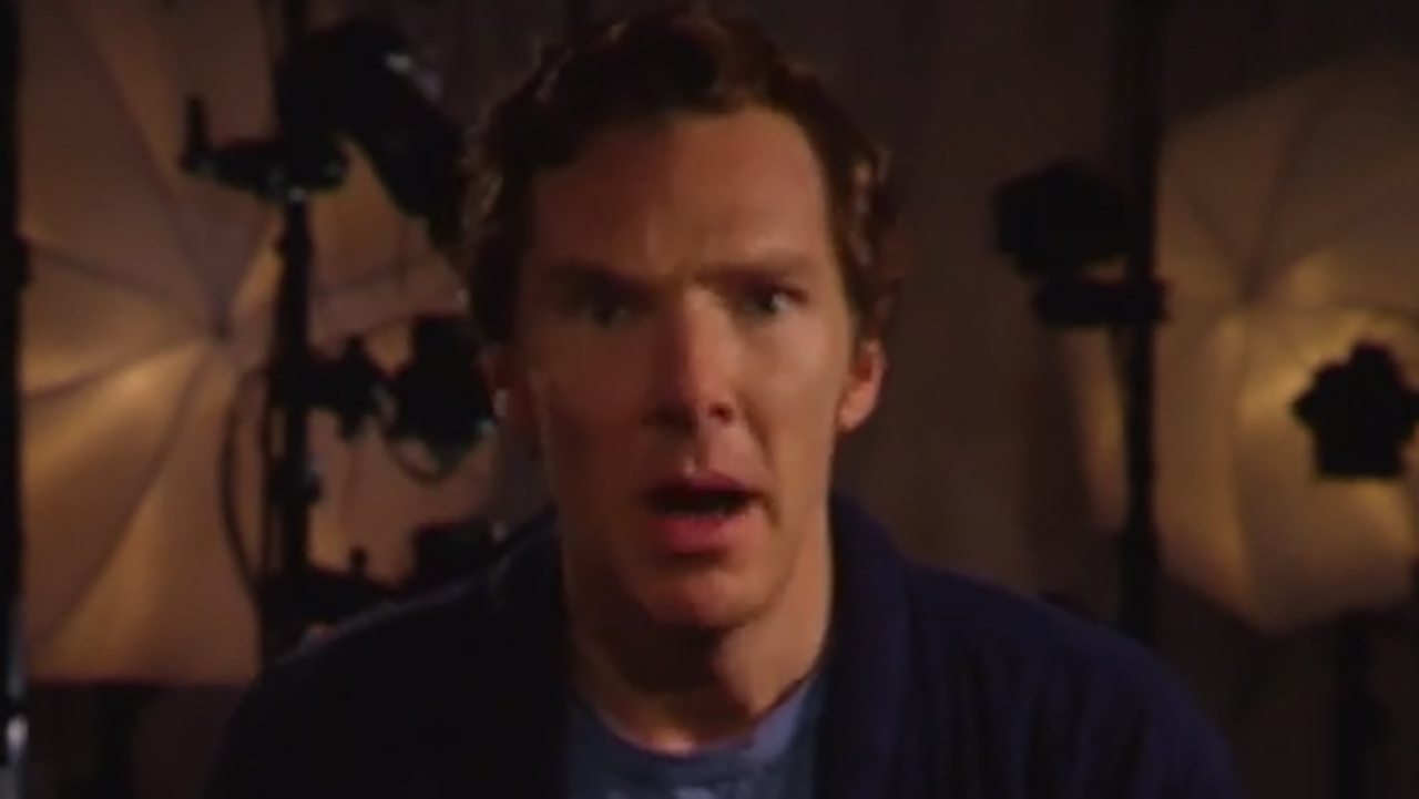 Benedict Cumberbatch surprised himself in the below video. (YouTube)