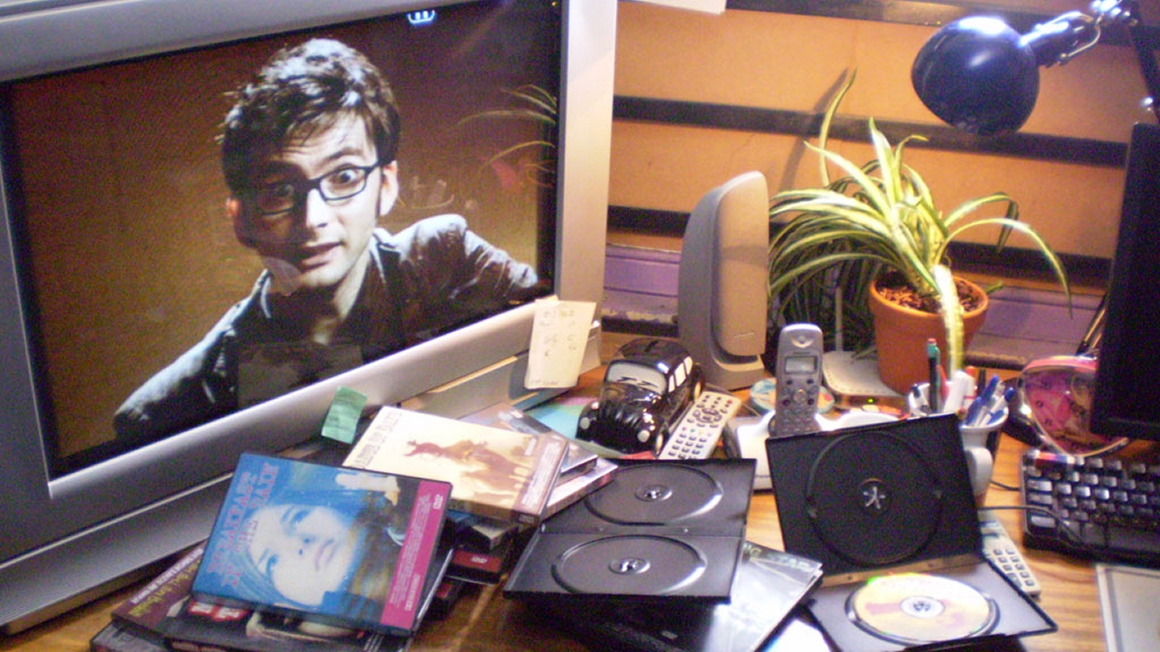 The Doctor (David Tennant) as a DVD extra. (Pic: BBC)