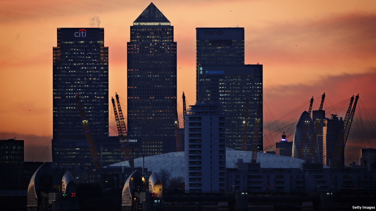 One Canada Square (second-left) is the tallest building in the Canary Wharf complex. (Pic: Dan Kitwood/Getty Images)