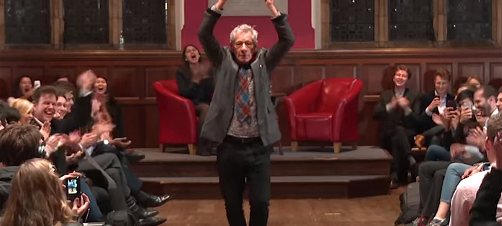 Sir Ian McKellen at Oxford Union (Photo: Oxford Union)