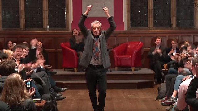 Sir Ian McKellen at Oxford Union (Photo: Oxford Union)