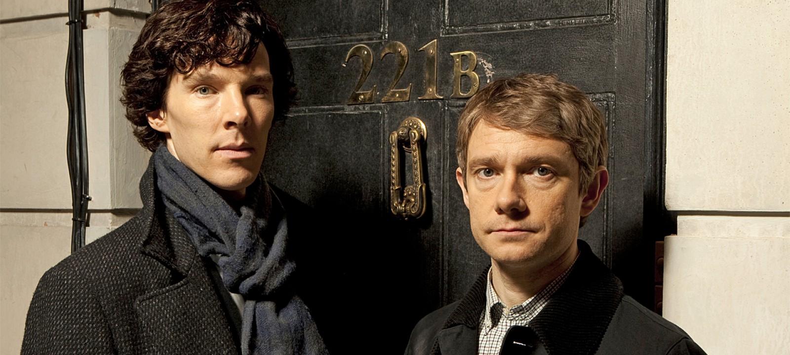 Benedict Cumberbatch and Martin Freeman in 'Sherlock' (Photo: BBC)