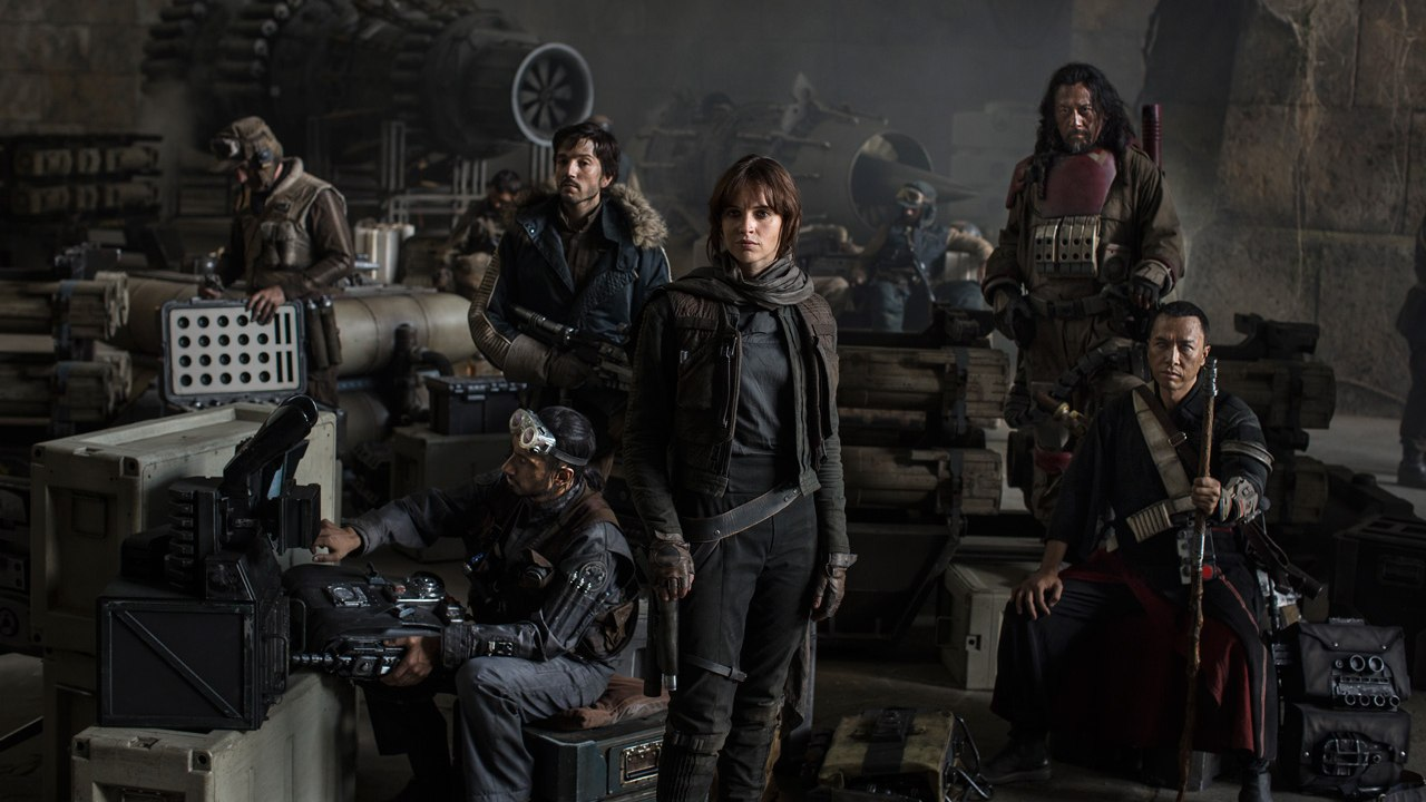 Felicity Jones and the cast of 'Star Wars: Rogue One.' (Pic: Lucasfilm)