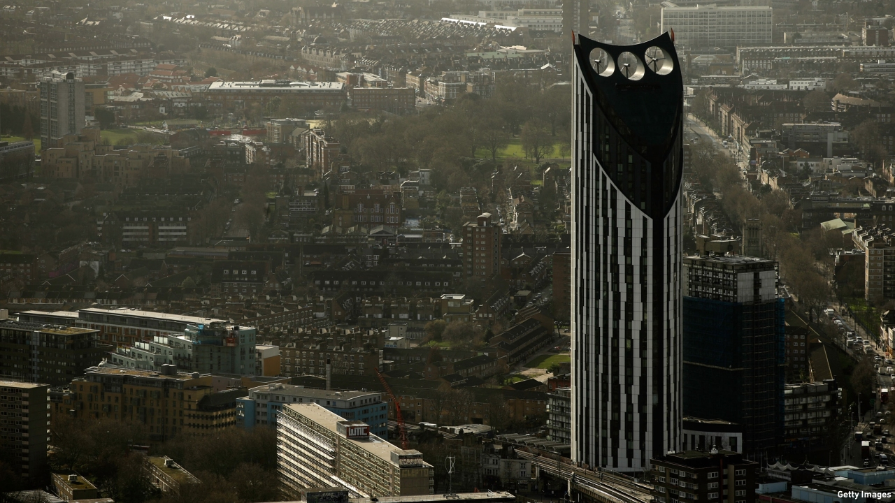 The distinctive Strata residential tower. (Pic: Matthew Lloyd/Getty Images)