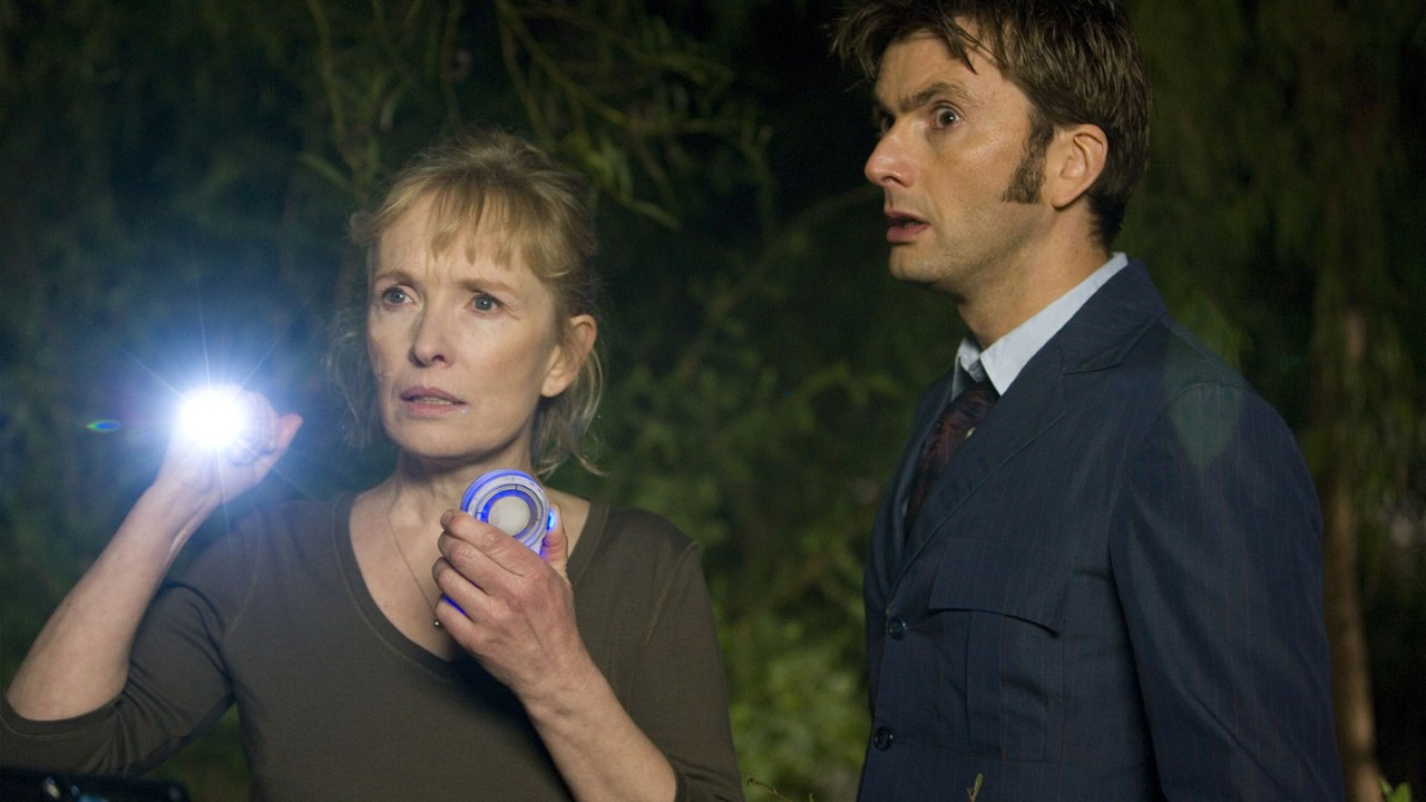 Adelaide and the Tenth Doctor (David Tennant). (Pic: BBC)