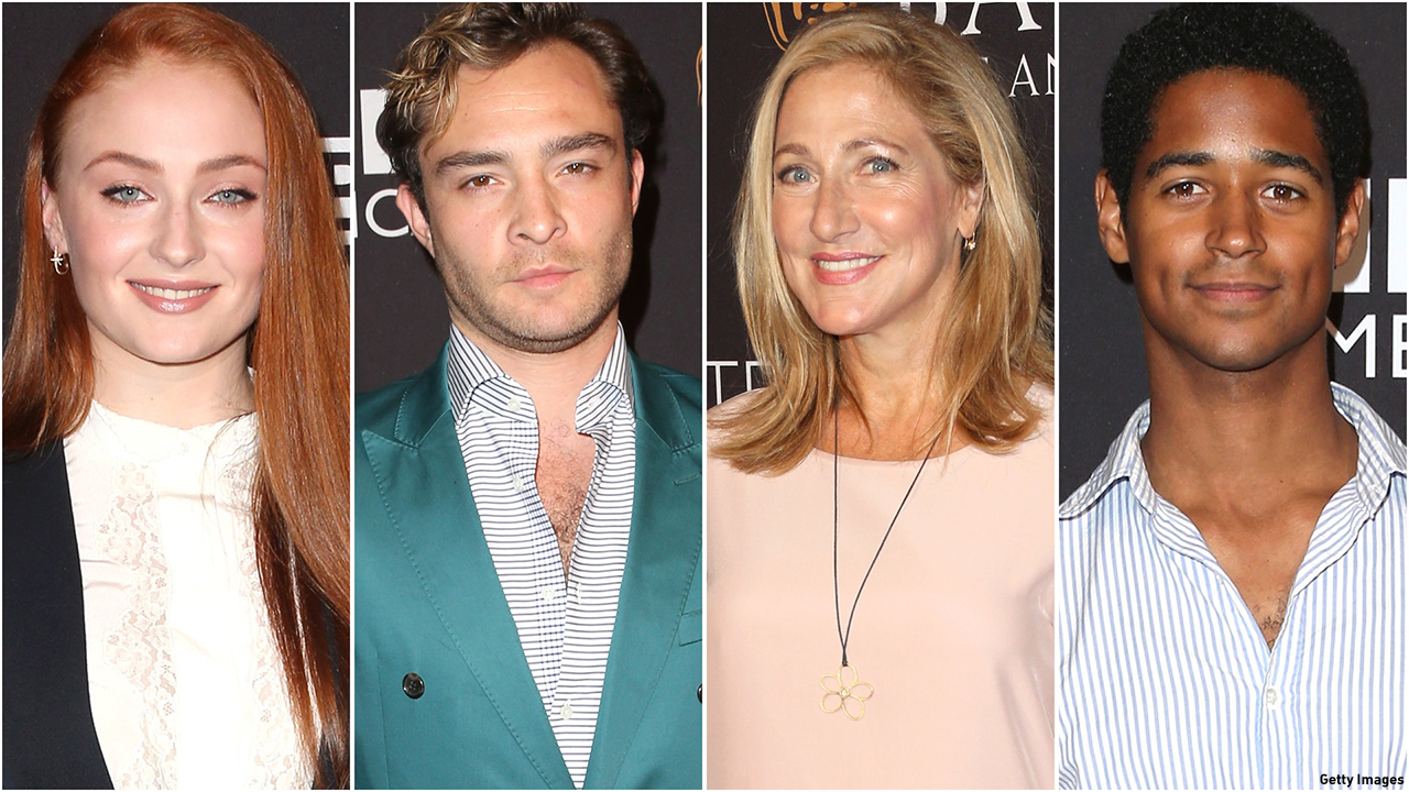 From left to right: Sophie Turner, Ed Westwick, Edie Falco and Alfie Enoch at the BAFTA Los Angeles TV Tea presented by BBC AMERICA. (Photos: Getty Images)