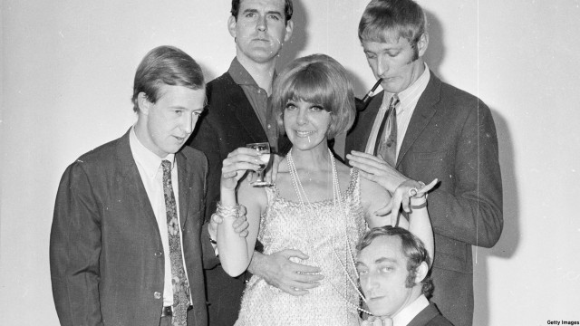 Tim Brooke-Taylor, John Cleese, Aimi McDonald, Marty Feldman and Graham Chapman in 'At Last the 1948 Show' (Photo: Larry Ellis/Getty Images)