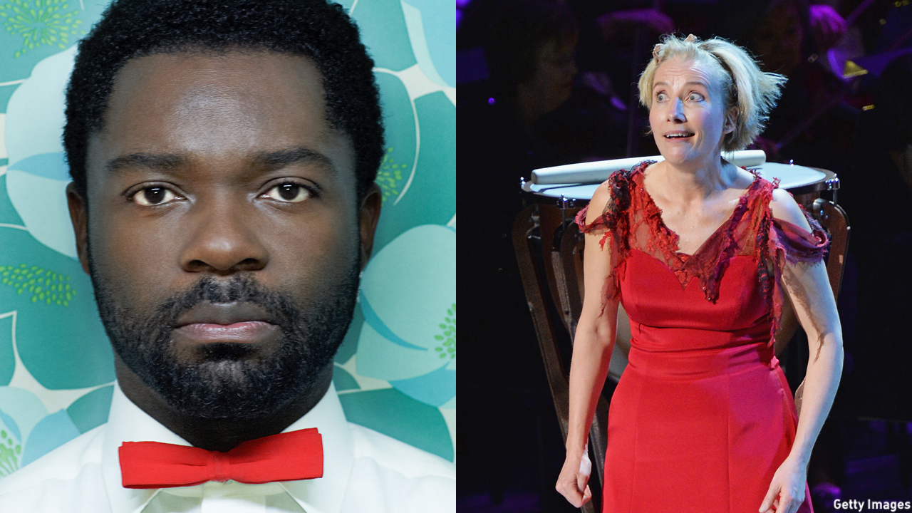 David Oyelowo stars in 'Nightingale' and Emma Thompson is seen on stage in 'Sweeney Todd.' (HBO/Getty Images)