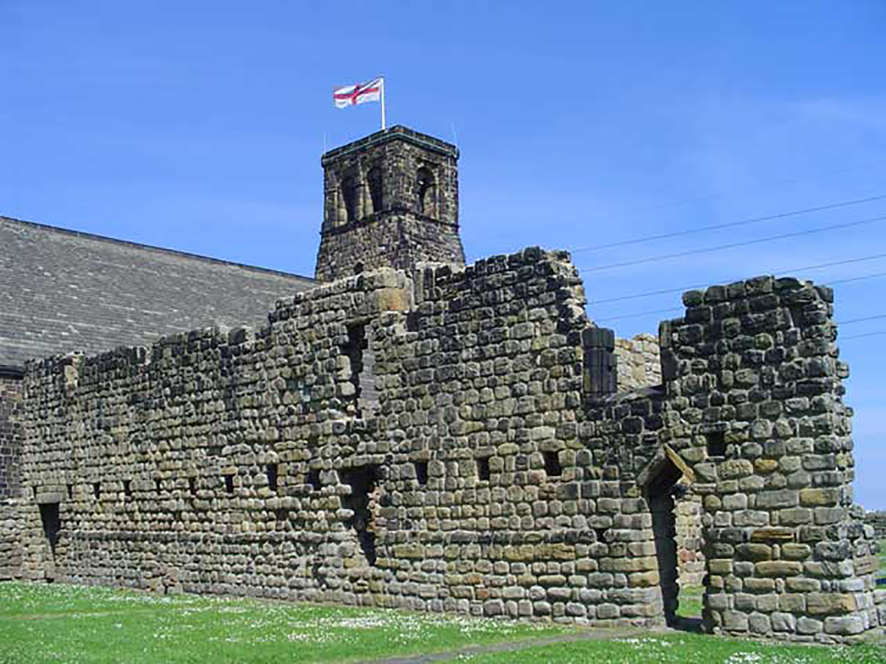 Remains of the monastery still stand in Jarrow. (Wikipedia)