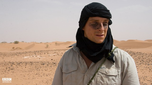 Bear Grylls in the Sahara.
