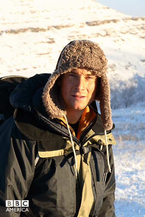 Bear Grylls in Siberia.