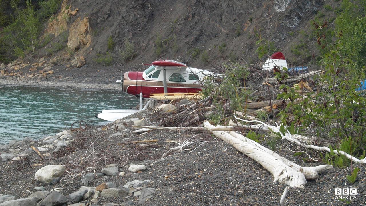 Bear Grylls in Yukon.