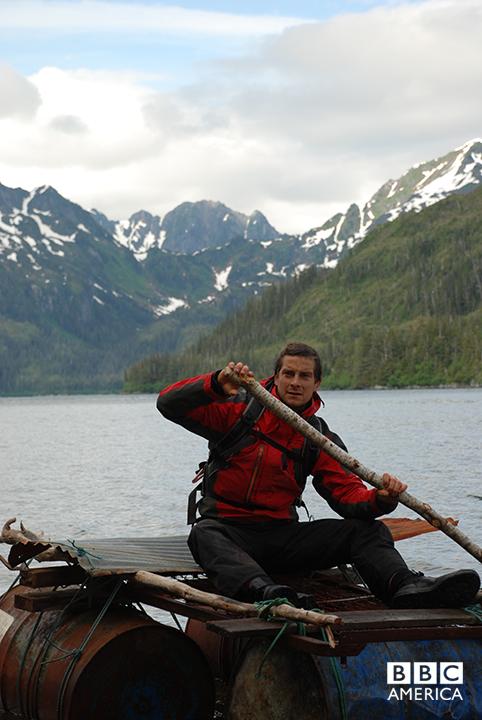 Bear Grylls in Alaska.