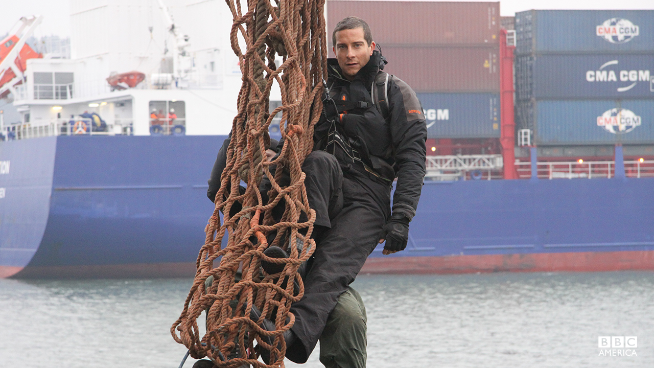 Bear Grylls in the 'Urban Survival' special.