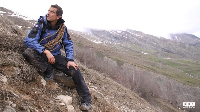 Bear Grylls in Eastern Europe.