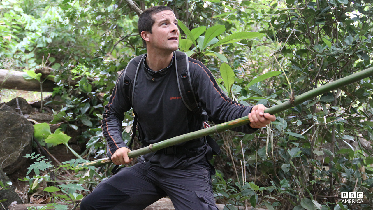 Bear Grylls in the Western Pacific.