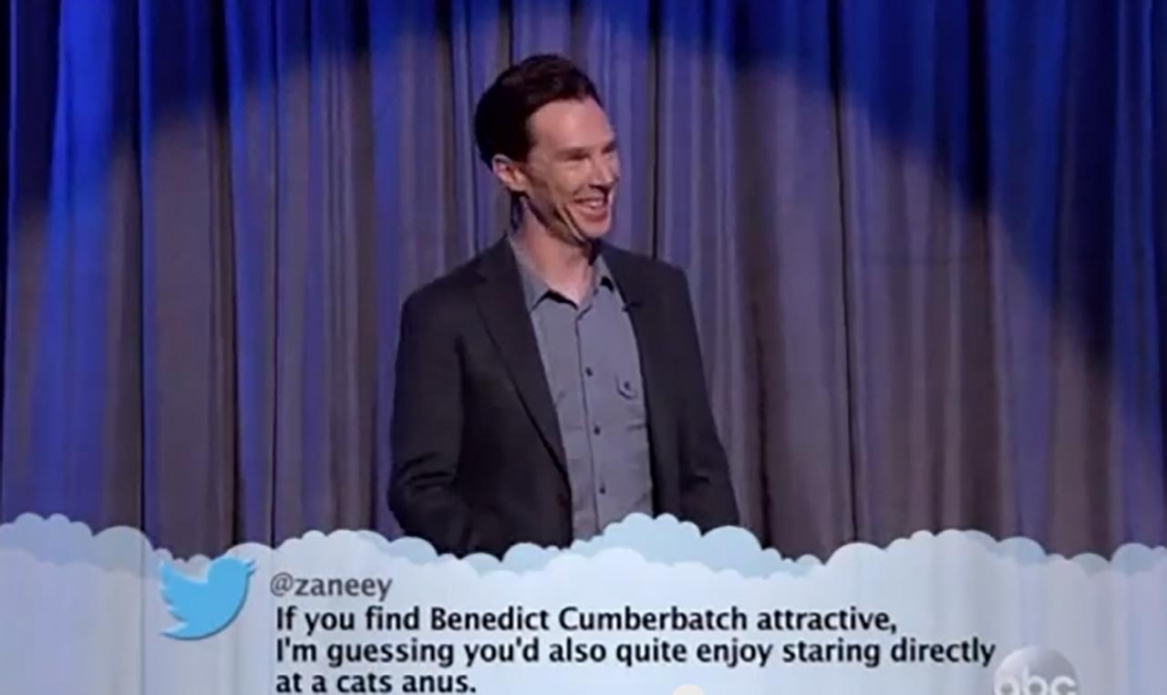Benedict Cumberbatch gets sassy on 'Jimmy Kimmel Live.' (YouTube)