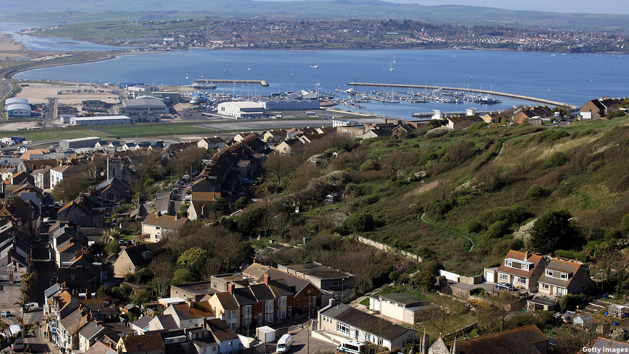 This photo of Weymouth Bay and Portland Harbour was taken in 2011.  (Matt Cardy/Getty Images)