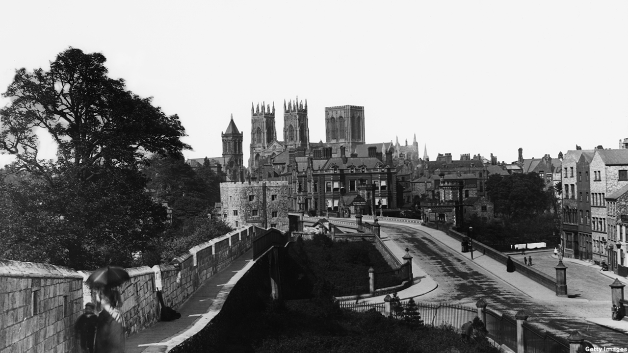 York, England, is a walled city in North Yorkshire. (London Stereoscopic Company/Hulton Archive/Getty Images)