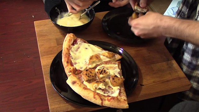 Fish fingers, custard and pizza (Photo: YouTube)