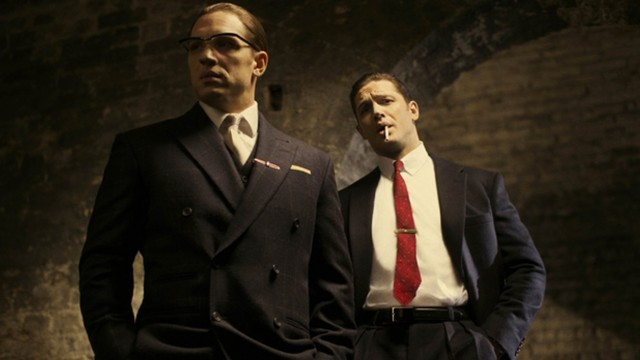 Tom Hardy as Reggie and Ronnie Kray (Pic: StudioCanal)