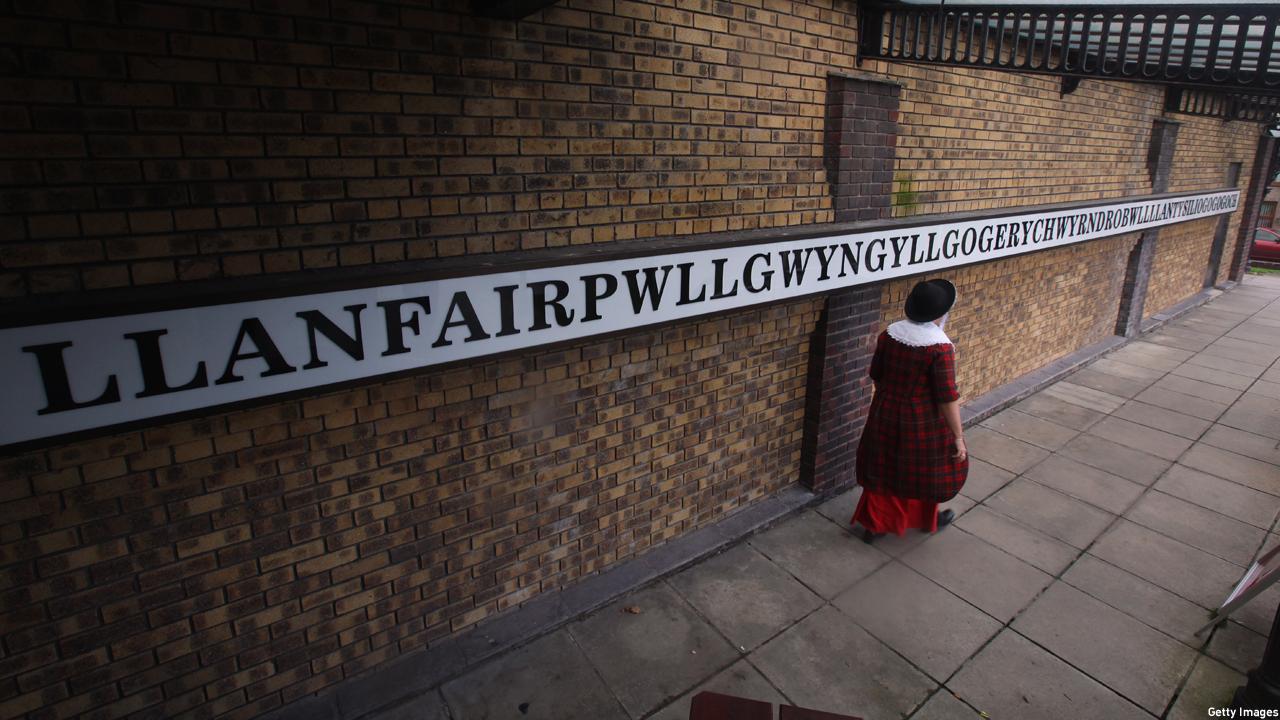 Llanfairpwllgwyngyllgogerychwyrndrobwllllantysiliogogogoch station (Photo: Christopher Furlong/Getty Images)