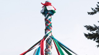 A Maypole, for May Day (Photo: Bradcalkins/Fotolia/AP Images)