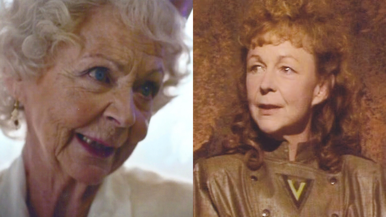 Sheila Reid as Clara's gran and Etta (Photos: BBC)