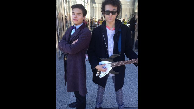 Eleventh and Twelfth Doctor cosplay. (Photo: BBC AMERICA)