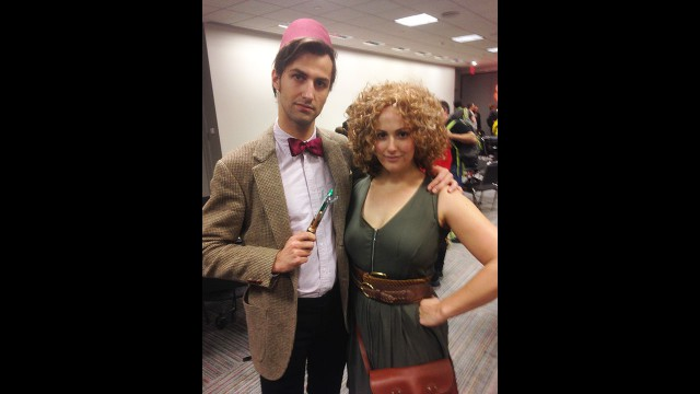 Spoilers: Eleventh Doctor and River Song cosplay. (Photo: BBC AMERICA)
