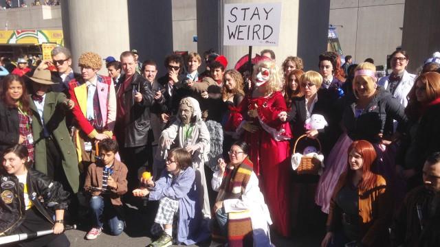 'Doctor Who' cosplayers gathered on Sunday (October 11). (Photo: BBC AMERICA)