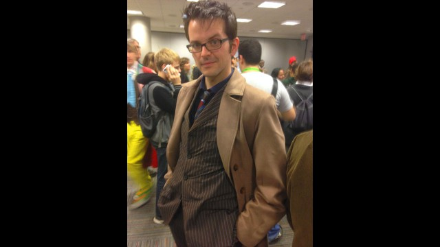 David Tennant, is that you? Tenth Doctor cosplay. (Photo: BBC AMERICA)