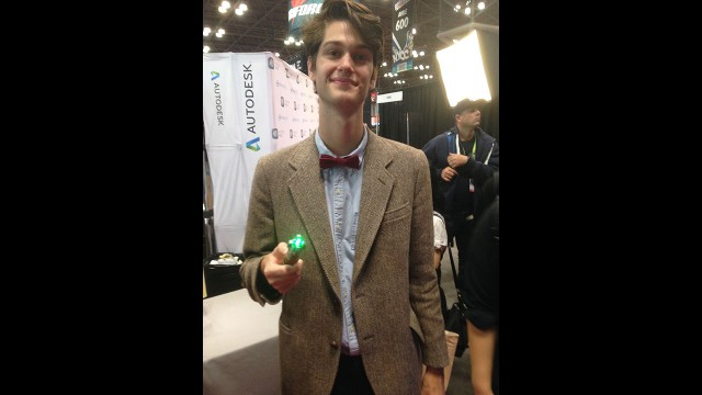 Spot-on Eleventh Doctor cosplay. (Photo: BBC AMERICA)
