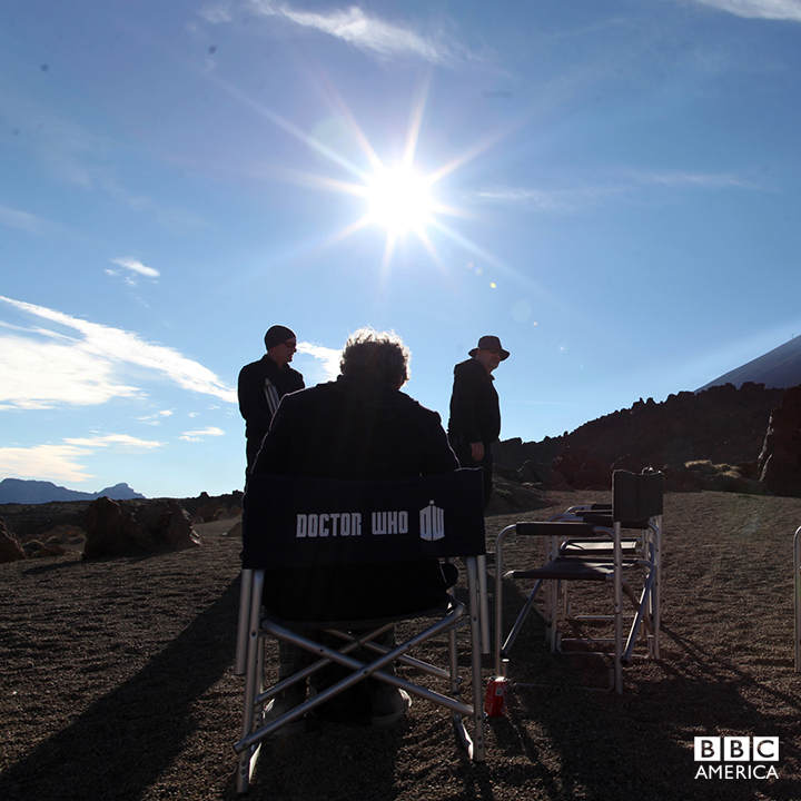 Peter soaks up the sun while filming in Tenerife.