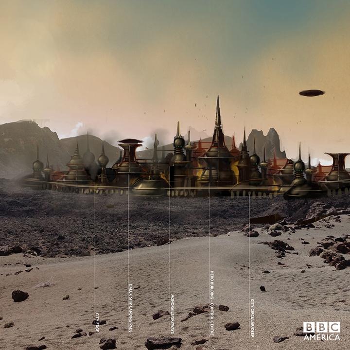 Production artwork for Dalek city