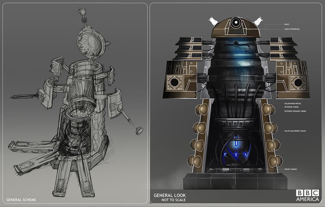 Production artwork for Clara's Dalek casing