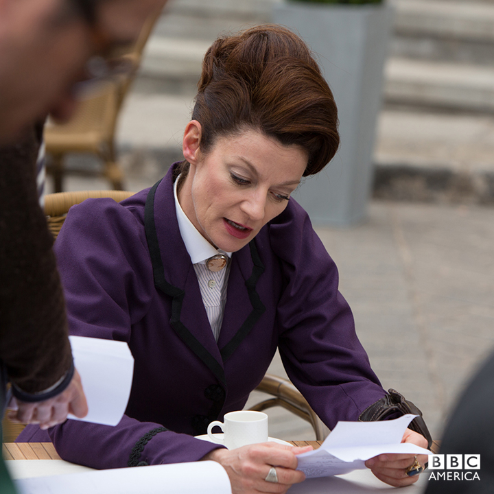 Michelle Gomez, on location in Tenerife