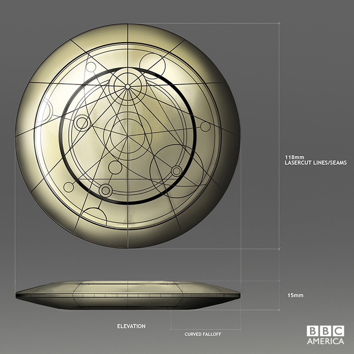 Production artwork for the Doctor's confession dial