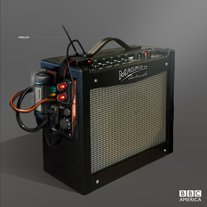 Production artwork fro the Doctor's amp... from Magpie Electricals!