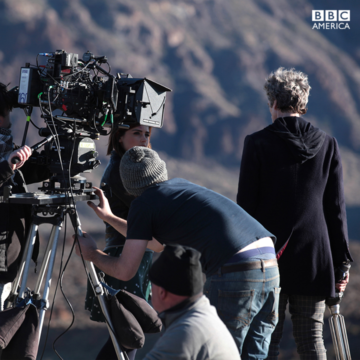 Jenna and Peter filming on location in Tenerife
