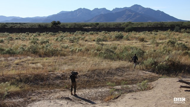 Bear Grylls in Arizona.