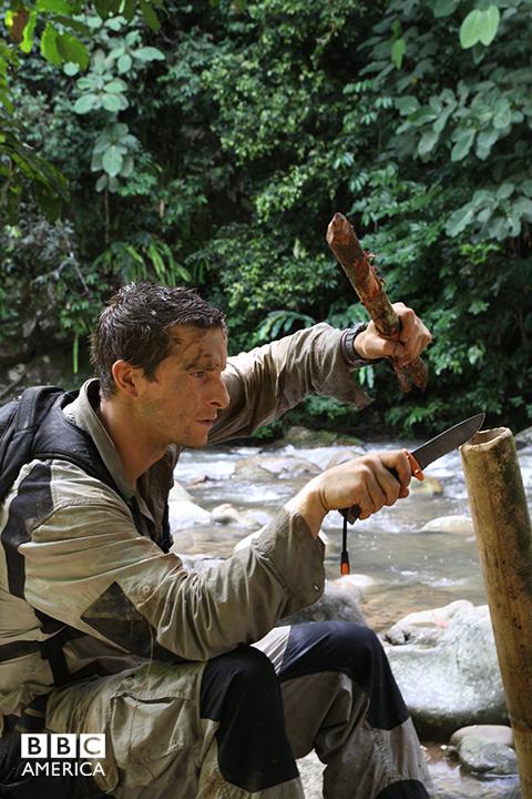 Bear Grylls in the Borneo jungle.