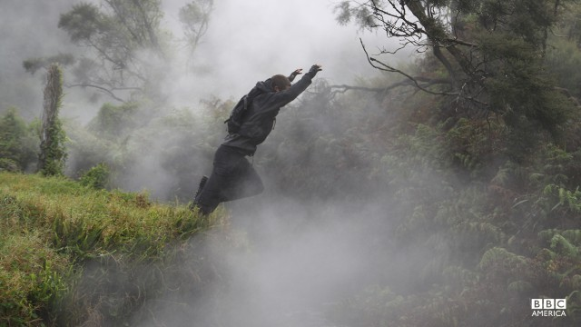 Bear Grylls in New Zealand.