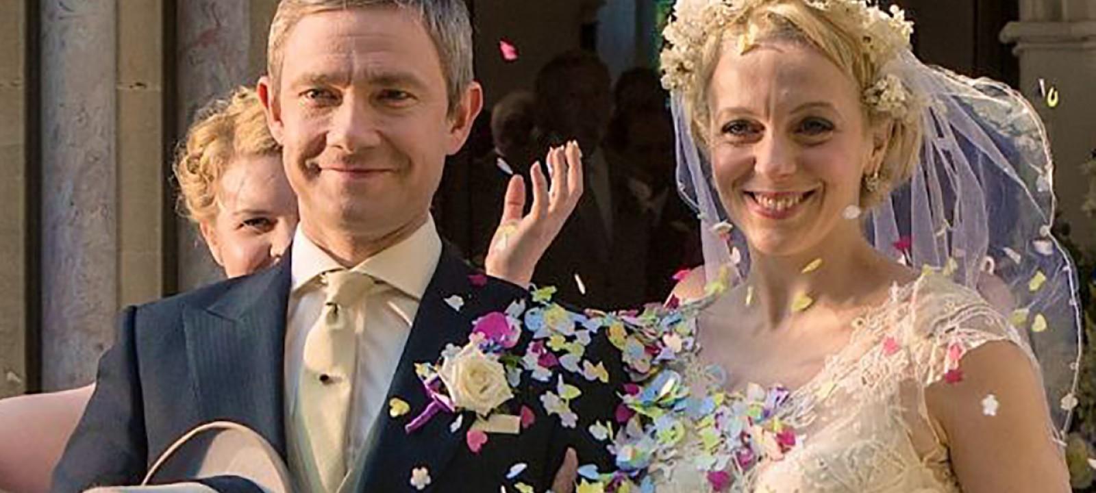 Sherlock, 302 – Martin Freeman, Amanda Abbington and Benedict Cumberbatch