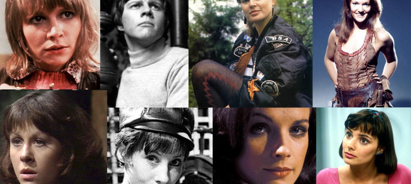 The Doctor's faithful companions. L-R (top row) Jo, Jamie, Ace, Leela (bottom row) Sarah Jane, Susan, Romana I, Peri (Photos: BBC)