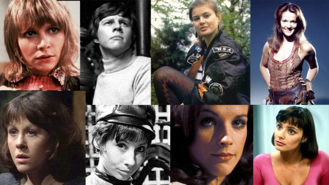 The Doctor's faithful companions. L-R (top row) Jo, Jamie, Ace, Leela (bottom row) Sarah Jane, Susan, Romana I, Peri (Photos: BBC)